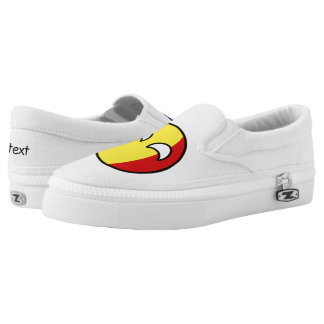 Funny Trending Geeky Romania Countryball Slip-On Shoes
