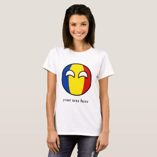 Funny Trending Geeky Romania Countryball T-Shirt