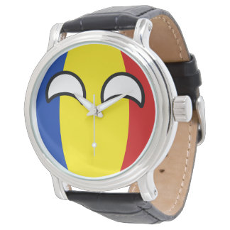 Funny Trending Geeky Romania Countryball Watch