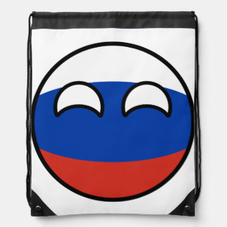 Funny Trending Geeky Russia Countryball Drawstring Bag