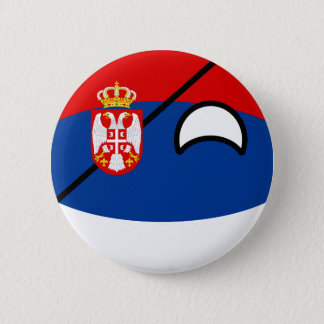 Funny Trending Geeky Serbia Countryball 6 Cm Round Badge