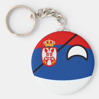 Funny Trending Geeky Serbia Countryball Basic Round Button Key Ring