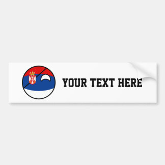 Funny Trending Geeky Serbia Countryball Bumper Sticker