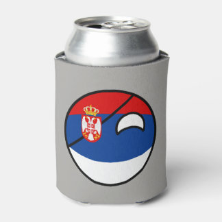 Funny Trending Geeky Serbia Countryball Can Cooler