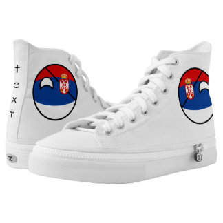 Funny Trending Geeky Serbia Countryball High Tops