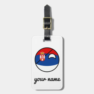 Funny Trending Geeky Serbia Countryball Luggage Tag