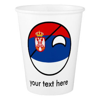 Funny Trending Geeky Serbia Countryball Paper Cup