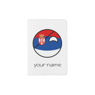 Funny Trending Geeky Serbia Countryball Passport Holder