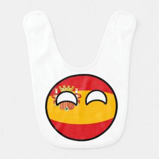 Funny Trending Geeky Spain Countryball Bib