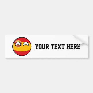 Funny Trending Geeky Spain Countryball Bumper Sticker