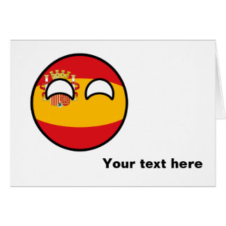 Funny Trending Geeky Spain Countryball Card