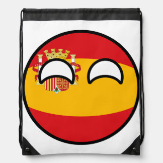 Funny Trending Geeky Spain Countryball Drawstring Bag