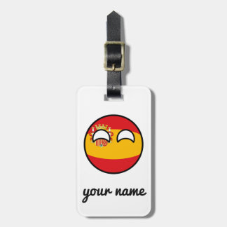 Funny Trending Geeky Spain Countryball Luggage Tag