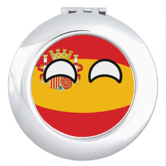 Funny Trending Geeky Spain Countryball Mirror For Makeup