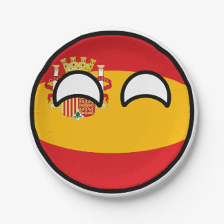 Funny Trending Geeky Spain Countryball Paper Plate