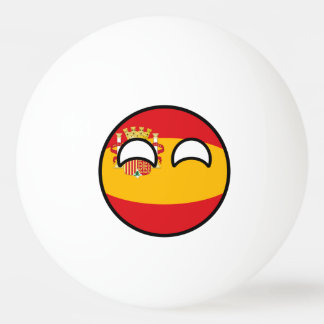 Funny Trending Geeky Spain Countryball Ping Pong Ball