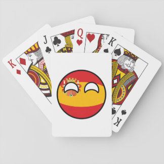Funny Trending Geeky Spain Countryball Playing Cards