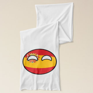 Funny Trending Geeky Spain Countryball Scarf