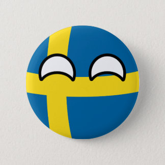 Funny Trending Geeky Sweden Countryball 6 Cm Round Badge