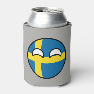 Funny Trending Geeky Sweden Countryball Can Cooler