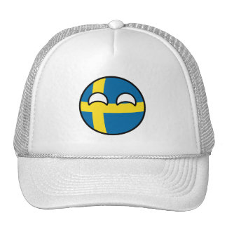 Funny Trending Geeky Sweden Countryball Cap
