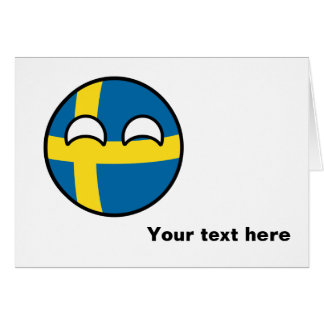 Funny Trending Geeky Sweden Countryball Card