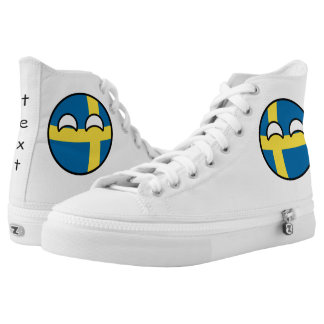 Funny Trending Geeky Sweden Countryball High Tops