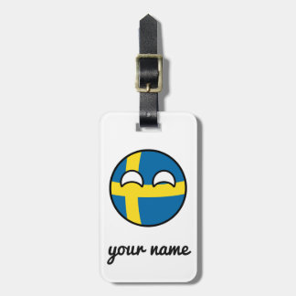 Funny Trending Geeky Sweden Countryball Luggage Tag