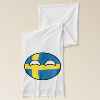 Funny Trending Geeky Sweden Countryball Scarf