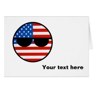 Funny Trending Geeky USA Countryball Card
