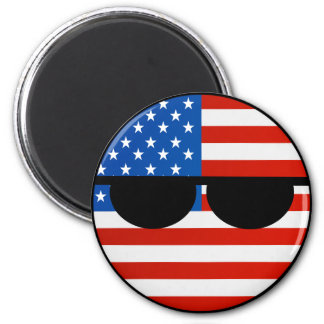 Funny Trending Geeky USA Countryball Magnet