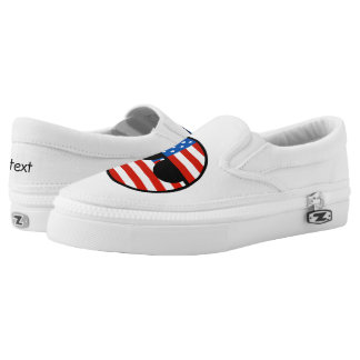 Funny Trending Geeky USA Countryball Slip-On Shoes