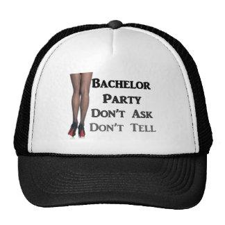 Funny trendy Modern Geek Bachelor Party Fashion Trucker Hats