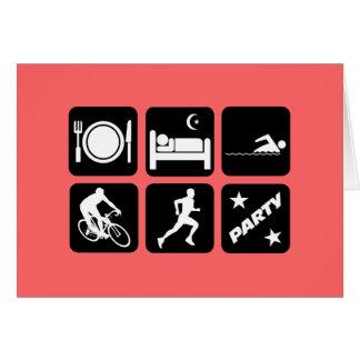 Funny triathlon card