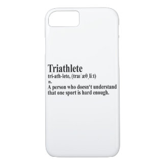 Funny Triathlon definition - iPhone Case