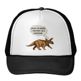 Funny Triceratops Dinosaur Cap