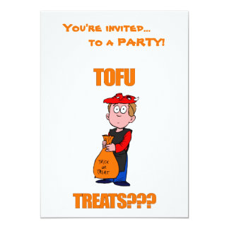 "Funny Trick or Treat Halloween 5"" X 7"" Invitation Card"