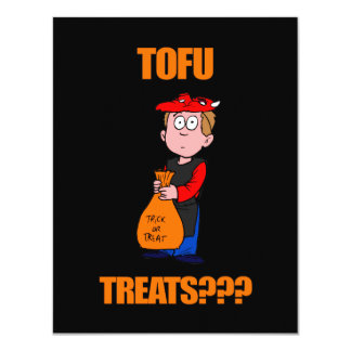 Funny Trick or Treat Halloween 4.25x5.5 Paper Invitation Card
