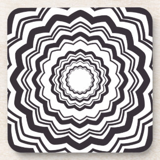 Funny Trippy Optical Illusion for Drunks Beverage Coasters
