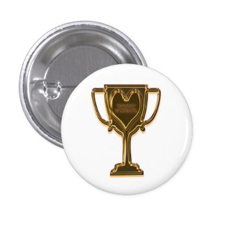 Funny Trophy Husband Mini Button