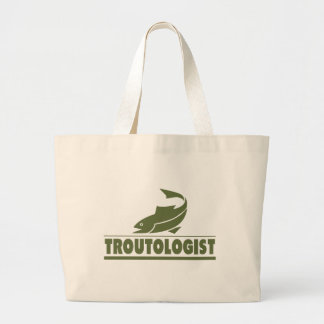 Funny Trout Fishing Jumbo Tote Bag