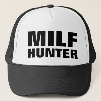 "Funny Trucker Hat: ""MILF HUNTER"" Trucker Hat"