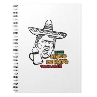 Funny Trump Make Cinco de Mayo Great Again Notebook
