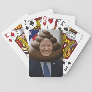 Funny Trump Poop Emoji Head Playing Cards