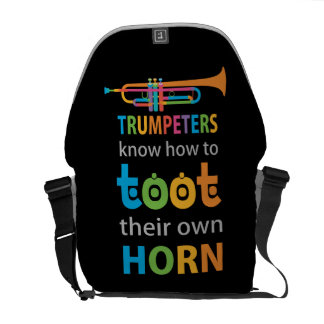 Funny Trumpet Courier Bag
