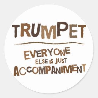 Funny Trumpet Gift Round Sticker