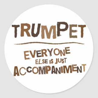 Funny Trumpet Gift Round Stickers