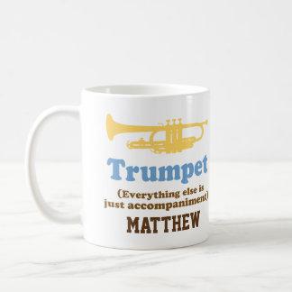 Funny Trumpet Joke Personalised Music Mug