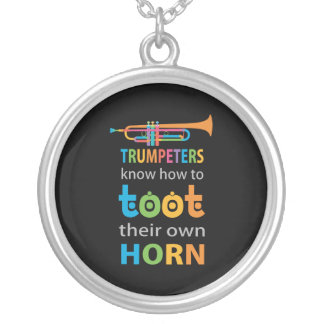 Funny Trumpet Silver Plated Necklace