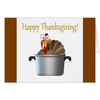 Funny Turkey, Happy Thanksgiving Day Greeting Card